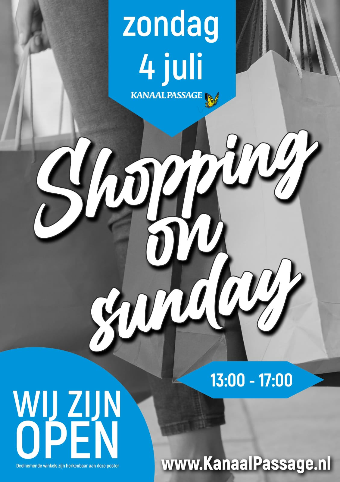 Koopzondag op 4 juli 2021 in Stadskanaal Groningen eropuit met het gezin om een dagje te winkelen in het overdekt winkelcentrum Kanaalpassage.